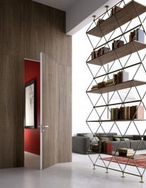 02.Linvisibile_Alba_Infinito Hinged door_Laminate finish_Boiserie System in continuity with the wall
