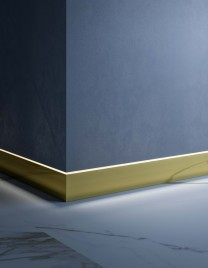 02.Linvisibile_Orizzonte_Skirting System_Light bronze anodised aluminium finish_with LED application
